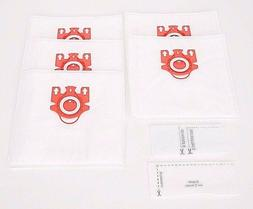 5 Miele FJM Vacuum Cleaner Bags + 2 Filters Synthetic Allerg