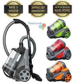 Ovente Bagless Canister Cyclonic Vacuum Cleaner and HEPA Fil