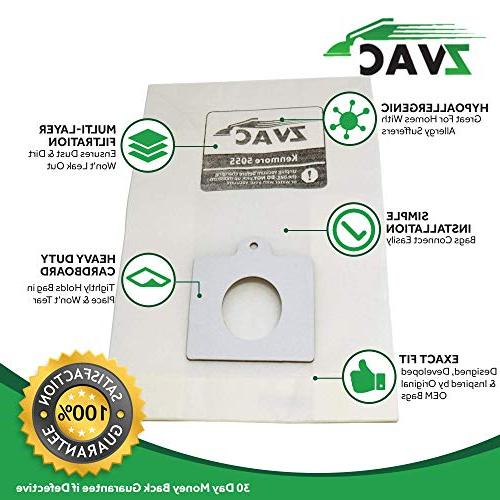ZVac Bags Replacement for Kenmore Ultra Care Replaces Fits: Kenmore 50410, 24975,