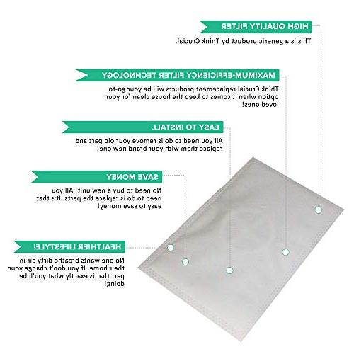Crucial 2 Electrolux LE-2100 Allergen Filters Designed To Fit LE-2100 Part # Designed & Engineered