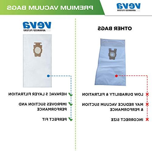 VEVA 30 Pack Premium HEPA Vacuum F Cloth Bag Kirby Replacement F, Q, 204811 Sentria G10D, Ultimate G, Diamond Limited Edition; G5, Cleaners