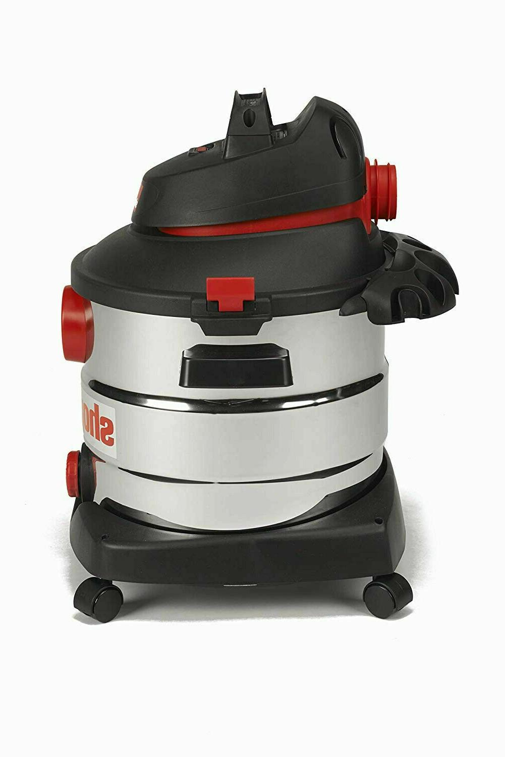 NEW 8 Wet Dry Shop Vac Cleaner Gallon Stainless Steel 6.0
