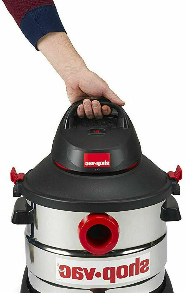 NEW 8 Wet Dry Vac Cleaner Gallon Steel HP