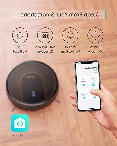 eufy Wi-Fi, Super-Thin, Strong Suction, 13 ft Boundary Included, Self-Charging Robotic Vacuum Cleans Hard to Medium-Pile