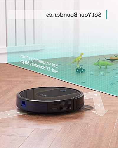eufy Wi-Fi, Super-Thin, Strong Suction, 13 Boundary Included, Self-Charging Cleans Hard to Medium-Pile
