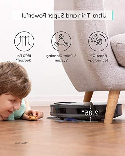 Wi-Fi, Strong Suction, Boundary Included, Quiet, Self-Charging Robotic Vacuum Cleaner, Cleans Floors Medium-Pile Carpets