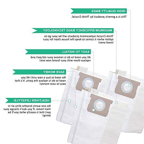 Crucial Vacuum Bags Replacement With Vac H - Part # 8 Gallon Shop Gallon,8 Gallon Wet Dry