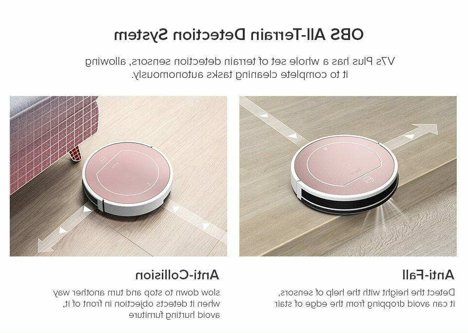 ILIFE V7s Plus Robot Vacuum Cleaner Simultaneously For Hard
