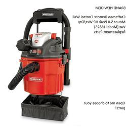 New Craftsman Model 16825 Remote Wall Mount 5HP Wet/Dry Vac